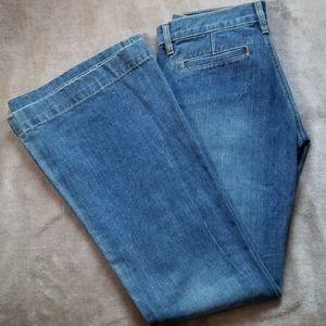 Old Navy Ultra Low Waist Flare Denim Jeans Blue 4
